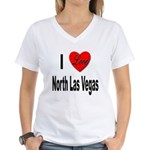 I Love North Las Vegas (Front) Women's V-Neck T-Sh