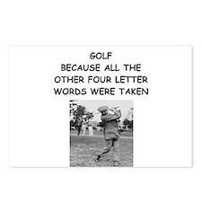 golf humor calendar Postcards (Package of 8)