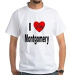 I Love Montgomery (Front) White T-Shirt