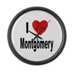 I Love Montgomery Large Wall Clock