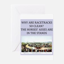 horse racing gifts and t-shir Greeting Card