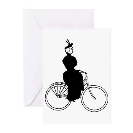 Cyclist (F) Greeting Cards (Pk of 10)