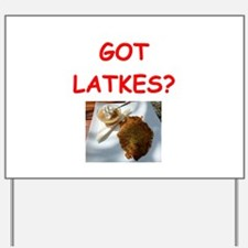 latkas gifts and t-shirts Yard Sign
