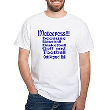 White Motocross T-Shirt