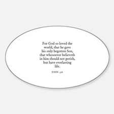 JOHN 3:16 Oval Decal