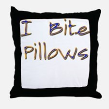 Real Men Bite Pillows Twiligh Throw Pillow