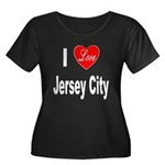 I Love Jersey City (Front) Women's Plus Size Scoop