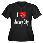 I Love Jersey City (Front) Women's Plus Size V-Nec