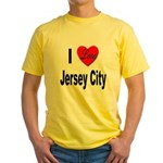 I Love Jersey City (Front) Yellow T-Shirt