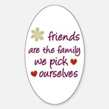 Friends Are Family Oval Bumper Stickers