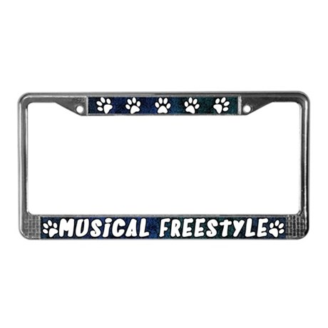 Paw Prnt Musical Freestyle License Plate Frame (B)