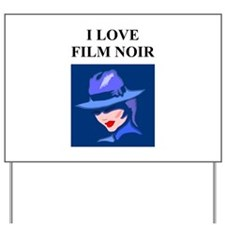film noir gifts and t-shirts Yard Sign