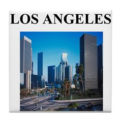 los angeles gifts and t-shirt Tile Coaster