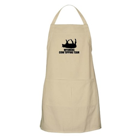 Wyoming Cow Tipping Team BBQ Apron