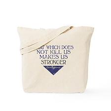 Nietzsche Quote Distressed Tote Bag