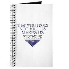 Nietzsche Quote Distressed Journal