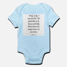 JOHN  3:11 Infant Creeper