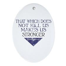 Nietzsche Quote Distressed Oval Ornament