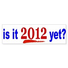 2012 Bumper Bumper Sticker