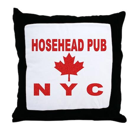 Hosehead Pub Throw Pillow