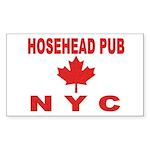 Hosehead Pub Rectangle Sticker 50 pk)