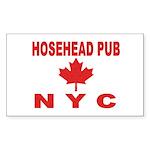Hosehead Pub Rectangle Sticker 10 pk)