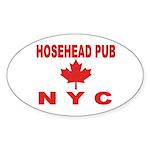 Hosehead Pub Oval Sticker (50 pk)