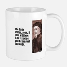 "Chaucer ""Firste Vertue"" Small Small Mug"