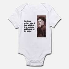 "Chaucer ""Firste Vertue"" Infant Bodysuit"