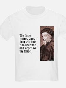 """Chaucer """"Firste Vertue"""" T-Shirt"""