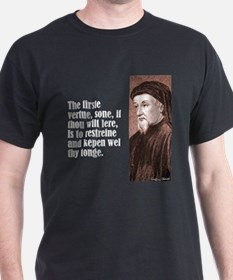 "Chaucer ""Firste Vertue"" T-Shirt"
