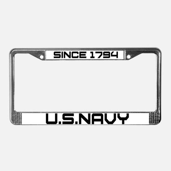 Navy Heritage License Plate Frame