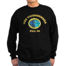 USS Ticonderoga CV 14 Sweatshirt