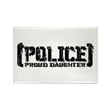 Police Proud Daughter Rectangle Magnet