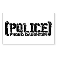 Police Proud Daughter Rectangle Decal