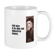 "Chaucer ""Full Wise"" Mug"