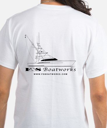 F&S Boatworks White T-Shirt