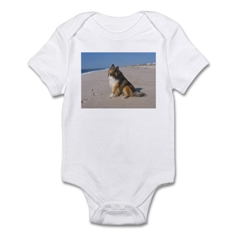 Collie at the Beach Infant Bodysuit