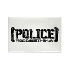 Police Proud Daughter-in-law Rectangle Magnet