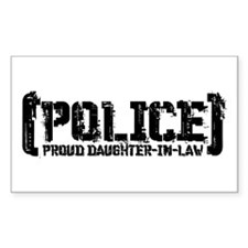 Police Proud Daughter-in-law Rectangle Decal