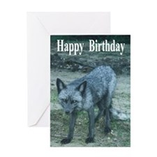 Silver Fox Greeting Card