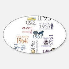 Civil Rights Timeline Oval Decal