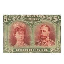 Rhodesia double head 5s Postcards (Package of 8)