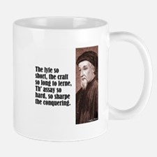 "Chaucer ""Lyfe So Short"" Small Small Mug"