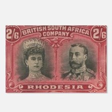 Rhodesia Double Heads 2s6d Postcards (Package of 8
