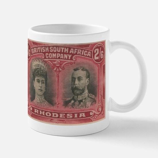 Rhodesia Double Heads 2s6d Mug