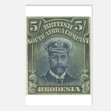 Rhodesia KGV Admirals 5s Postcards (Package of 8)