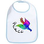 Rainbow Dove Peace Bib