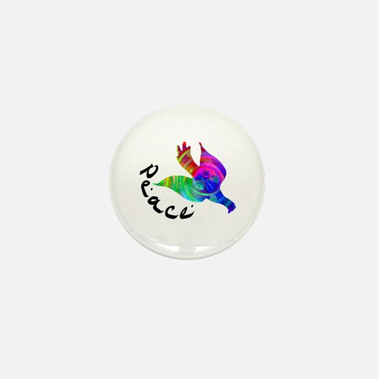 Rainbow Dove Peace Mini Button