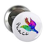 Rainbow Dove Peace Button